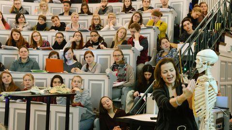 Medizinstudenten in einer Vorlesung