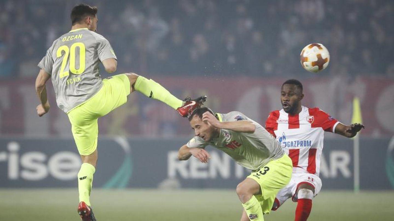 Szene aus dem Europa-League-Spiel Belgrad gegen Köln - RTL übertrag künftig den Cup