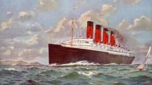 """Ein Gemälde der """"echten"""" RMS Mauretania"""