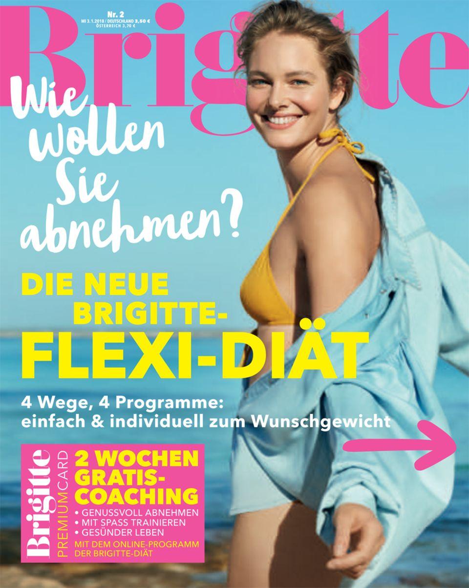 Mehr Tipps für die neue BRIGITTE-Diät finden Sie in der aktuellen Ausgabe der BRIGITTE oder unterwww.brigitte.de/brigitte-diaet