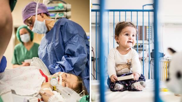 Natalia ist acht Monate alt und 74 Zentimeter groß, als sie in Greifswald operiert wird. Der Eingriff dauert über vier Stunden. Sie übersteht ihn gut