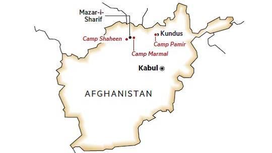 Einsatzgebiet Die Deutschen, stationiert in Camp Marmal, sind zuständig für den Norden, eine Fläche fast halb so groß wie Deutschland