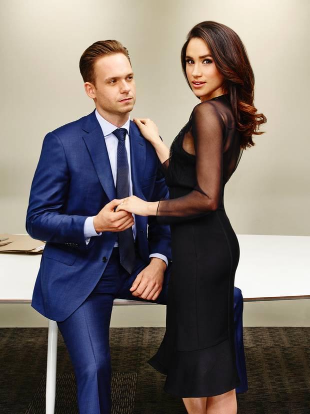 Meghan Markle und Patrick J Adams in Suits