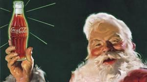 Einer der Weihnachtsmänner aus der Feder des Coca-Cola-Zeichners Haddon Sundblom
