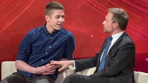 Pflege-Azubi Alexander Jorde und FDP-Chef Christian Lindner