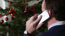 Immer mehr Deutschen sind auch zu Weihnachten für den Chef erreichbar