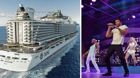 """Schiffstaufe der """"MSC Seaside"""": Karibikkreuzer der Superlative: Mit Ricky Martin an Bord des neuen MSC-Flaggschiffs"""