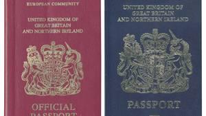 Blauer Pass Großbritannien