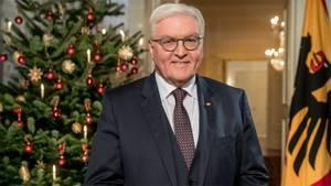 Bundespräsident Frank-Walter Steinmeier bei der Weihnachtsansprache