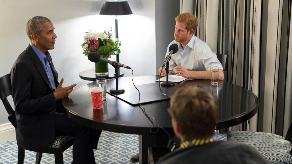 Barack Obama gibt Prinz Harry sein erstes Interview seit Ende seiner Präsidentschaft