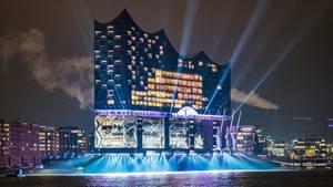 Außenansicht der Hamburger Elbphilharmonie während der Eröffnung (Archivbild)