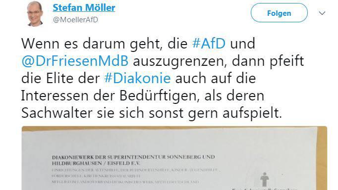 Mehrere AfD-Abgeordnete teilten ein Foto des Schreibens, mit der die Tafel die Spende zurückschickte, und kommentierten den Vorgang
