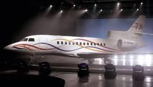 """Ein Flugzeug vom Typ """"Dassault Falcon 7X"""". Ein solches Modell krachte in Malta ein Gebäude."""
