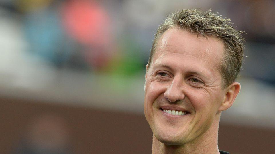 Ex-Formel-1-Fahrer Michael Schumacher lächelt