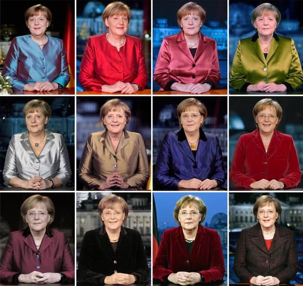 Merkel Outfits Neujahr