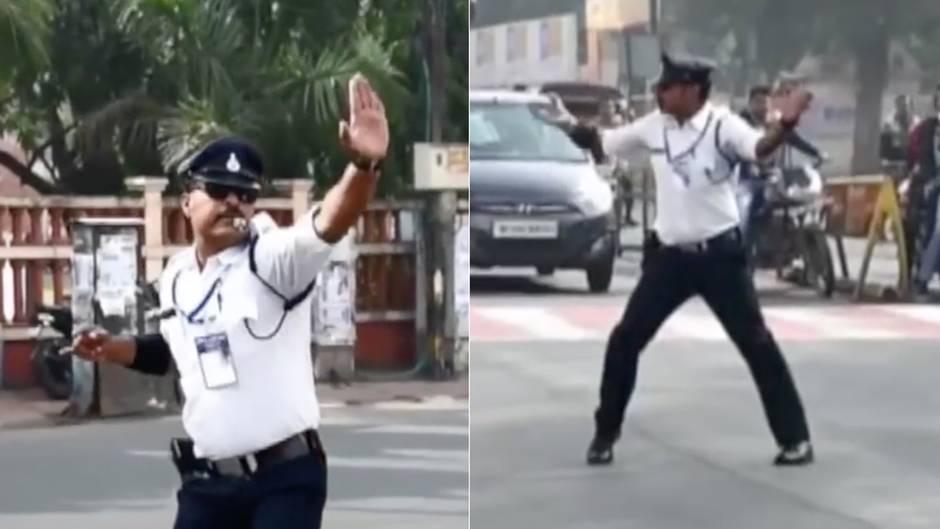 Moonwalk im Verkehr: Ist das der coolste Verkehrspolizist der Welt?