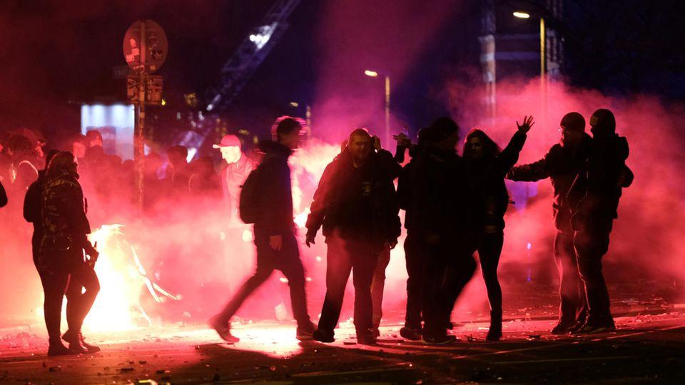 In Leipzig kam es in der Silvesternacht vereinzelt zu Ausschreitungen