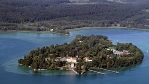 Die Insel Mainau aus der Luft - aber in welchem See liegt sie?