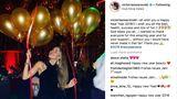 Victoria Swarovski mit Luftballons im Club Olivia Valere