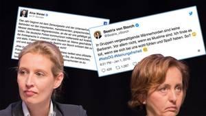 Die AfD-Politikerinnen Alice Weidel (l.) und Beatrix von Storch