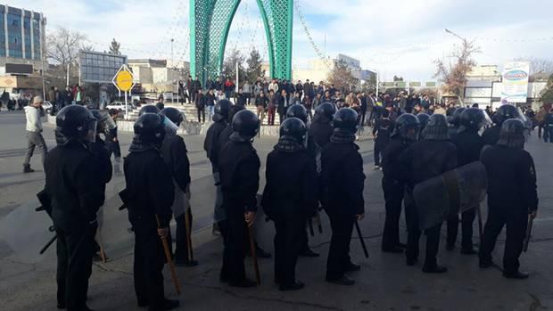 Iran Protest Polizei