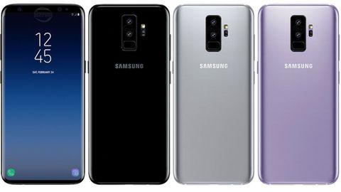 Sieht so das Samsung Galaxy S9 aus? Insgesamt könnte es das Smartphone in fünf Farben geben.