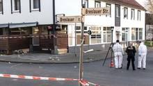 Polizeibeamte am Tatort in Salzgitter