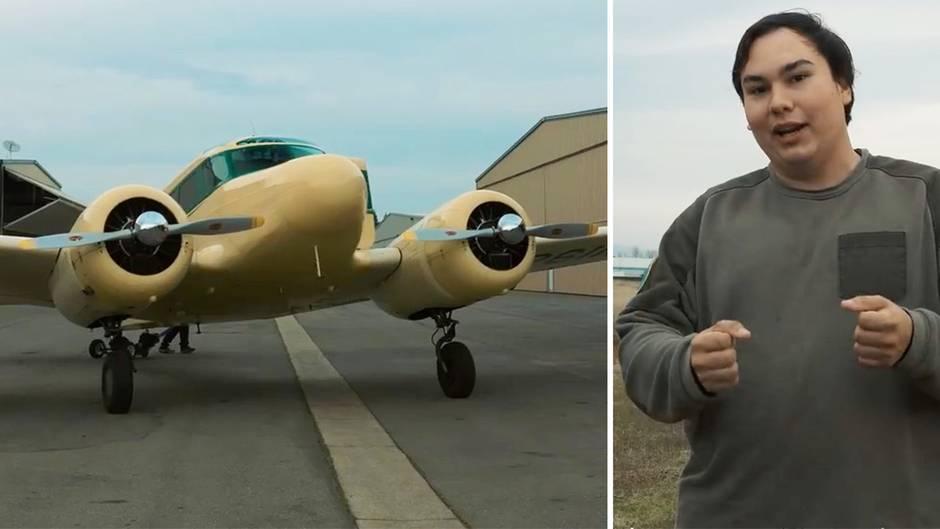 """""""One List, One Life"""": Krebskranker arbeitet seine """"Bucket List"""" ab - und fliegt mit einem Weltkriegs-Bomber"""