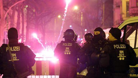 Polizeieinsatz in Leipzig