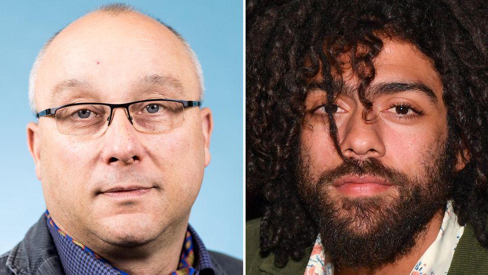 Jens Maier (AfD) und Noah Becker (r.)