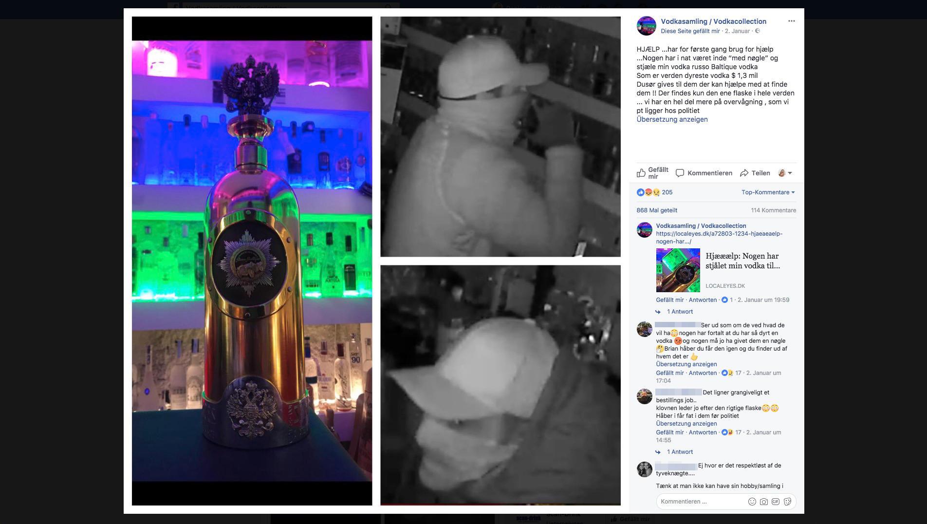 Teuerster Wodka Der Welt Wurde Gestohlen