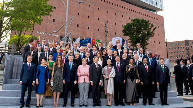 Staatschefparade beim G20-Gipfel Anfang Juli 2017