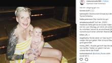 Melanie Müller mit Baby