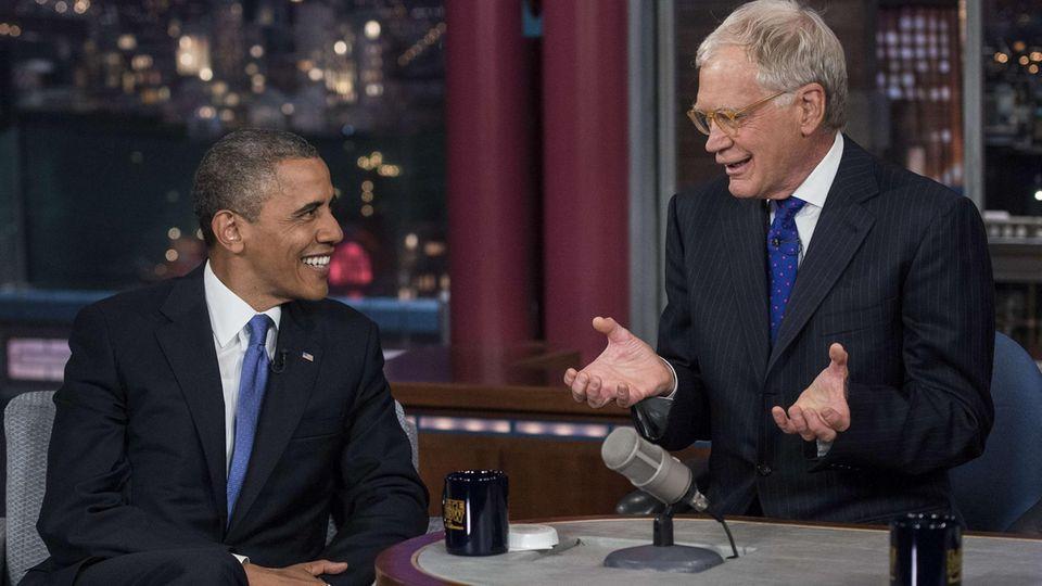David Letterman und Barack Obama