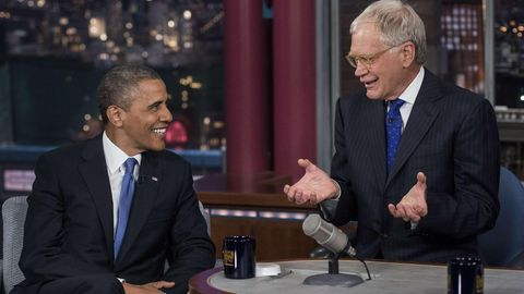 David Letterman und Barack Obama