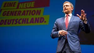 Christian Lindner auf dem FDP-Dreikönigstreffen in Stuttgart