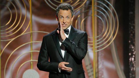 So witzig veräppelt Seth Meyers in seiner Eröffnungsrede der Golden Globes Weinstein und Trump