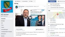 Die Facebook-Seite des AfD-Landesverbandes Sachsen