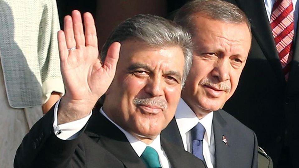 Abdullah Gül bei der Zeremonie zur Übergabe des Präsidentenamtes an Recep Tayyip Erdogan im August 2014