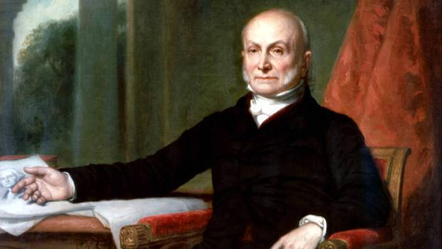 Portät des sechsten US-Präsidenten John Quincy Adams