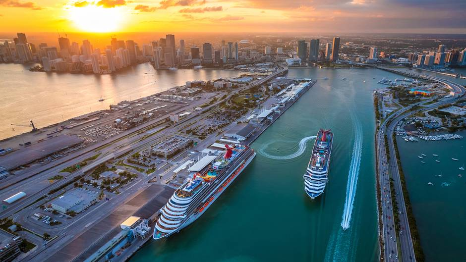 Kreuzfahrt Hauptstadt Miami Wo 15 000 Passagiere An Einem