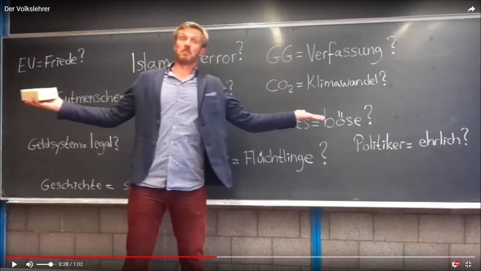 Volksverhetzender Lehrer auf YouTube? Nun reagiert die Schule