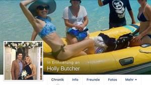 Facebook-Seite von Holly Butcher