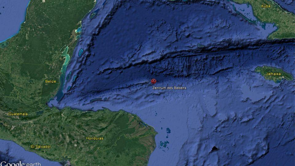 Ein Satellitenbild der Karibik