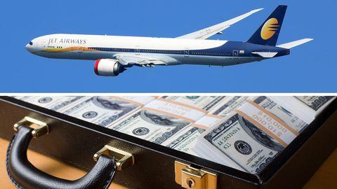 Eine Stewardess von Jet Airways wurde beim Schmuggel von großen Mengen Bargeldes erwischt.