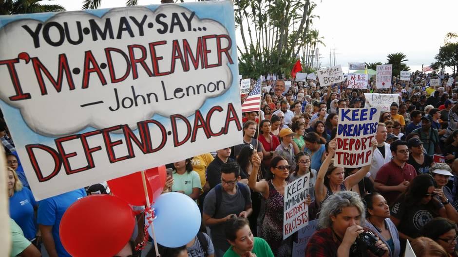 Demonstration gegen Donald Trumps Entscheidung, das Dreamer-Programm auszusetzen