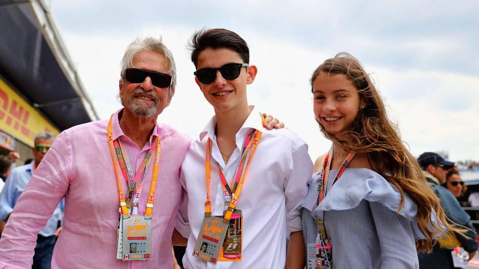 Michael Douglas mit seinen Kindern