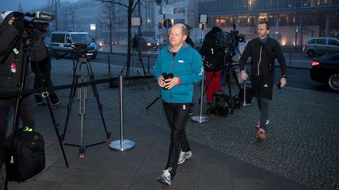 Olaf Scholz - SPD-Vize - Sondierung - Laufklamotten