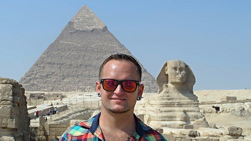In Ägypten bestaunte Michael 2011 die Sphinx
