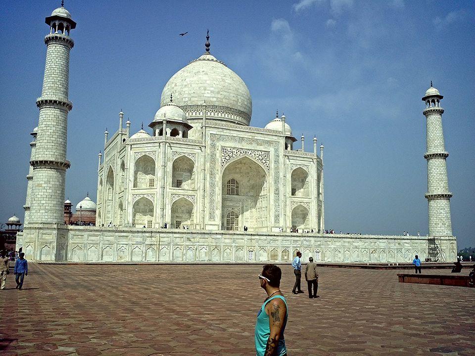 Auf seiner vorletzten Reise durch Asien besucht Michael den Taj Mahal in Indien